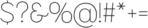 Cocogoose Narrow Thin otf (100) Font OTHER CHARS