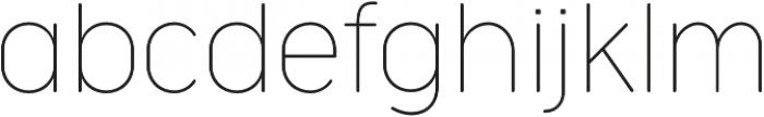 Cocogoose Narrow Thin otf (100) Font LOWERCASE