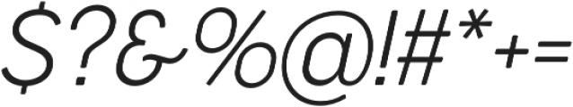 Cocogoose Narrow UltraLight Italic otf (300) Font OTHER CHARS