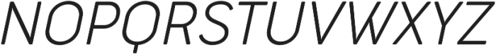 Cocogoose Narrow UltraLight Italic otf (300) Font UPPERCASE