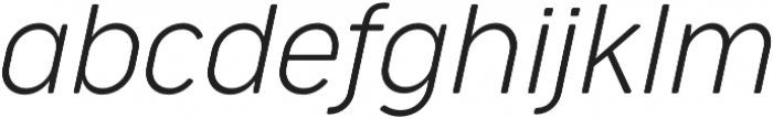 Cocogoose Narrow UltraLight Italic otf (300) Font LOWERCASE
