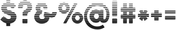 Cocogoose Pro Block Block Gradient otf (400) Font OTHER CHARS