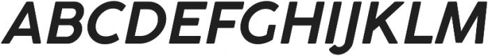 Cocogoose Pro SemiLight Italic otf (300) Font UPPERCASE