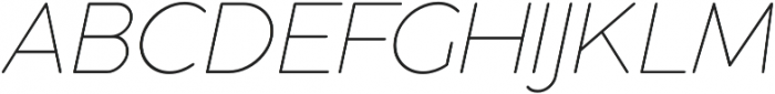 Cocogoose Pro Thin Italic otf (100) Font UPPERCASE