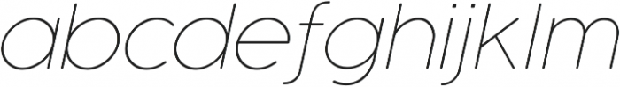Cocogoose Pro Thin Italic otf (100) Font LOWERCASE