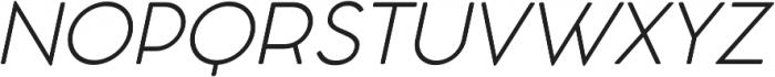 Cocomat Light Italic otf (300) Font UPPERCASE