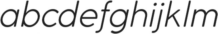 Cocomat Light Italic otf (300) Font LOWERCASE