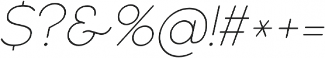 Cocomat UltraLight Italic otf (300) Font OTHER CHARS