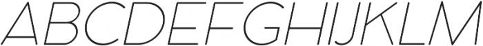 Cocomat UltraLight Italic otf (300) Font UPPERCASE