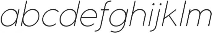 Cocomat UltraLight Italic otf (300) Font LOWERCASE
