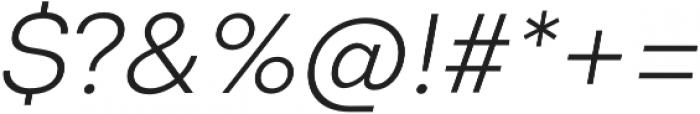 Codec Cold Light Italic otf (300) Font OTHER CHARS