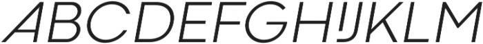 Codec Cold Light Italic otf (300) Font UPPERCASE