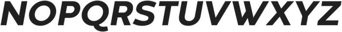 Codec Warm Extra Bold Italic otf (700) Font UPPERCASE