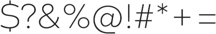 Codec Warm Extra Light otf (200) Font OTHER CHARS