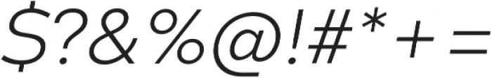 Codec Warm Light Italic otf (300) Font OTHER CHARS