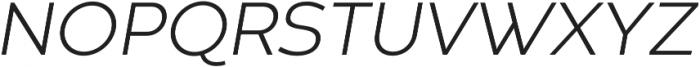 Codec Warm Light Italic otf (300) Font UPPERCASE