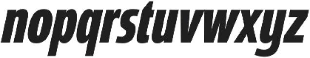Coegit Compact Bold Ital otf (700) Font LOWERCASE