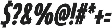 Coegit Compressed Bold Ital otf (700) Font OTHER CHARS