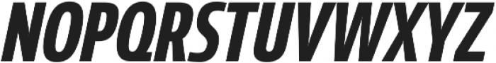 Coegit Condensed Bold Ital otf (700) Font UPPERCASE