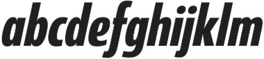 Coegit Condensed Bold Ital otf (700) Font LOWERCASE