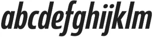 Coegit Condensed Medium Ital otf (500) Font LOWERCASE