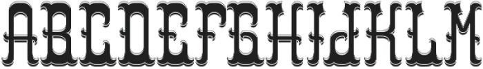 Colchester LightAndShadow otf (300) Font UPPERCASE