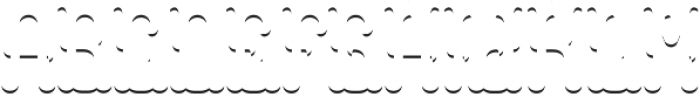 Colchester ShadowFX otf (400) Font LOWERCASE