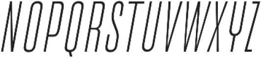 Cold Cuts Light Italic otf (300) Font UPPERCASE