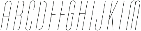 Cold Cuts Thin Italic otf (100) Font UPPERCASE