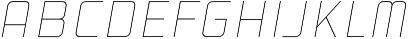 Cold Cuts Thin Italic otf (100) Font LOWERCASE