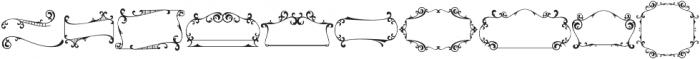Colesberg Xtra Ornament Regular otf (400) Font OTHER CHARS