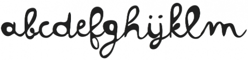 Colette otf (400) Font LOWERCASE