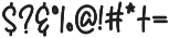 Colintha Script otf (400) Font OTHER CHARS