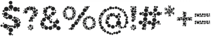 Color Blindness Dot otf (400) Font OTHER CHARS