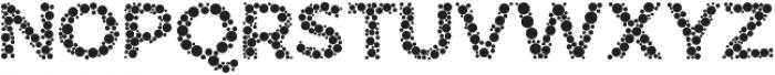 Color Blindness Dot otf (400) Font UPPERCASE