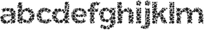 Color Blindness Dot otf (400) Font LOWERCASE