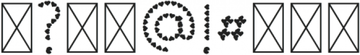 Color Hearts Regular otf (400) Font OTHER CHARS