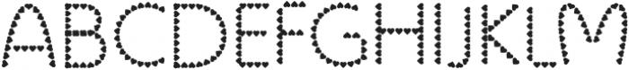 Color Hearts Regular otf (400) Font UPPERCASE