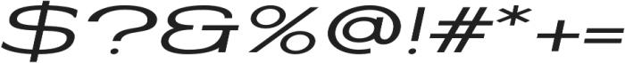 Coltrane Light Italic otf (300) Font OTHER CHARS