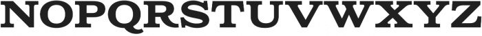 Columbia Titling Bold otf (700) Font UPPERCASE