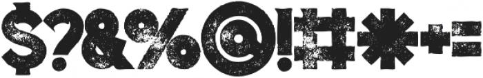 Columbus Grunge otf (400) Font OTHER CHARS