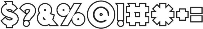 Columbus Outline otf (400) Font OTHER CHARS