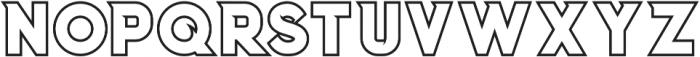 Columbus Outline otf (400) Font LOWERCASE
