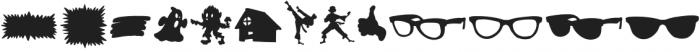 Comic Sidekick Shapes otf (400) Font UPPERCASE