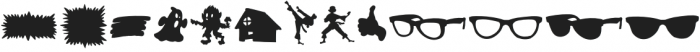Comic Sidekick Shapes otf (400) Font LOWERCASE