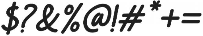Comic Type Slant otf (400) Font OTHER CHARS