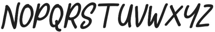 Comic Type Slant otf (400) Font UPPERCASE