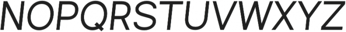 Commeria Sans Italics Bold otf (700) Font UPPERCASE