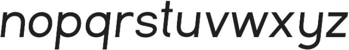 Commeria Sans Italics Bold otf (700) Font LOWERCASE