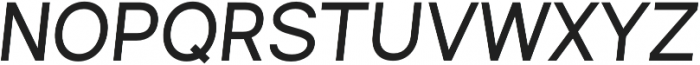 Commeria Sans Italics UltraBold otf (700) Font UPPERCASE